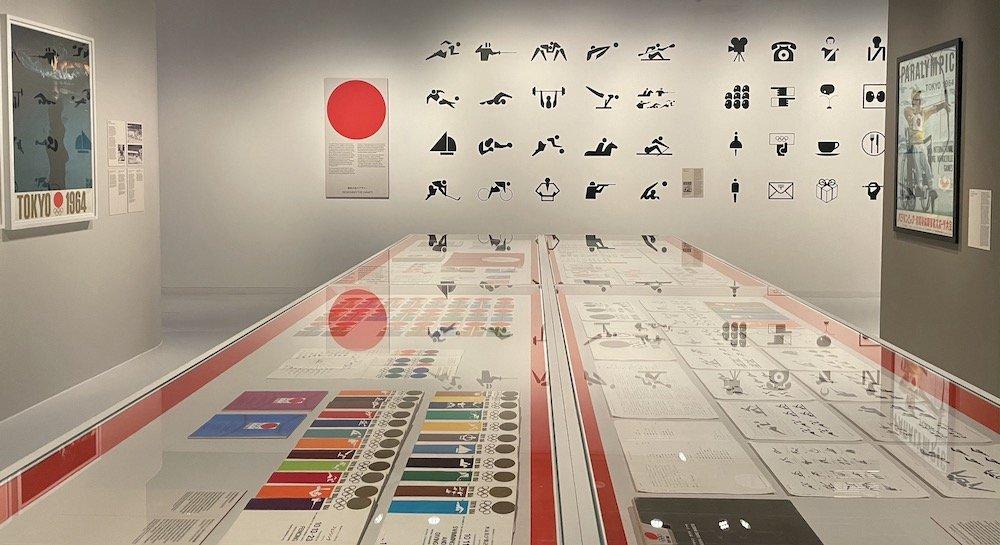 London, England, UK - 'Tokyo 1964: Designing Tomorrow' exhibition at Japan House London, 5 August 2021 - 7 November 2021.